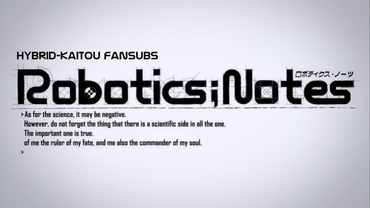 fansub re review hybrid kaitou robotics notes episode 08